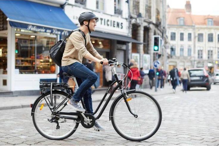 VELO ELECTRIQUE ELOPS 500 E B'TWIN. Un vélo électrique confortable et pas cher pour une autonomie allant jusqu'à 45 km.
