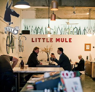 The Little Mule cafe and bike shop in Melbourne thelittlemule.com