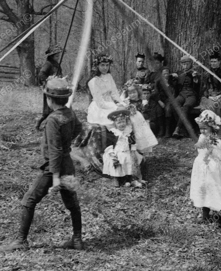 Traditional Maypole Dancing 1891 Vintage 8x10 Reprint Of Old Photo