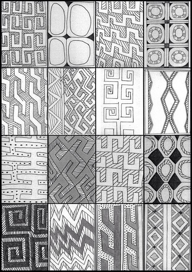 Brazilian Indian body draw - Grafismo indígena