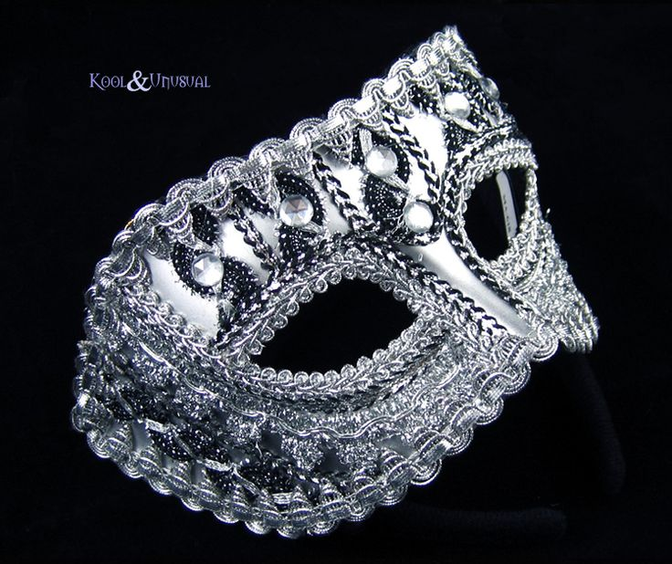 Masquerade Mask: Silver and Black (Suits Both Men and Women)