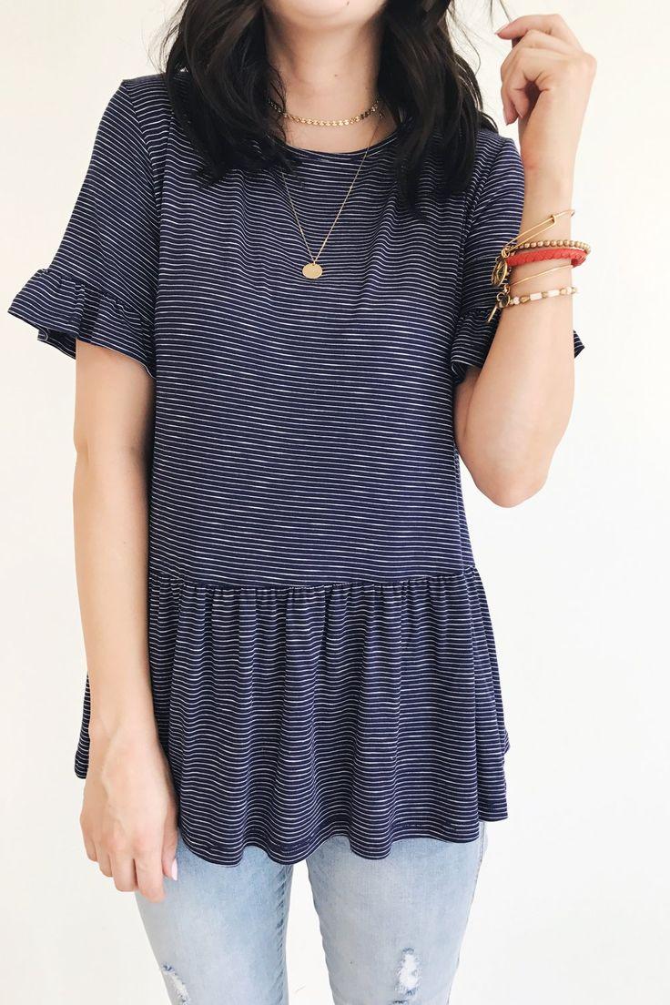 Striped Peplum | ROOLEE Fashion