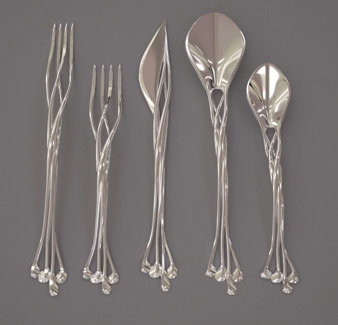 "This beautiful set of ""Setae Flatware"" was created by the folks at the Francis…"