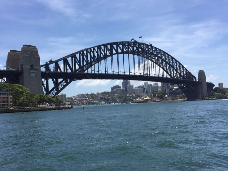 Sydney Harbour Bridge on a beautiful summers day on Sydney Harbour