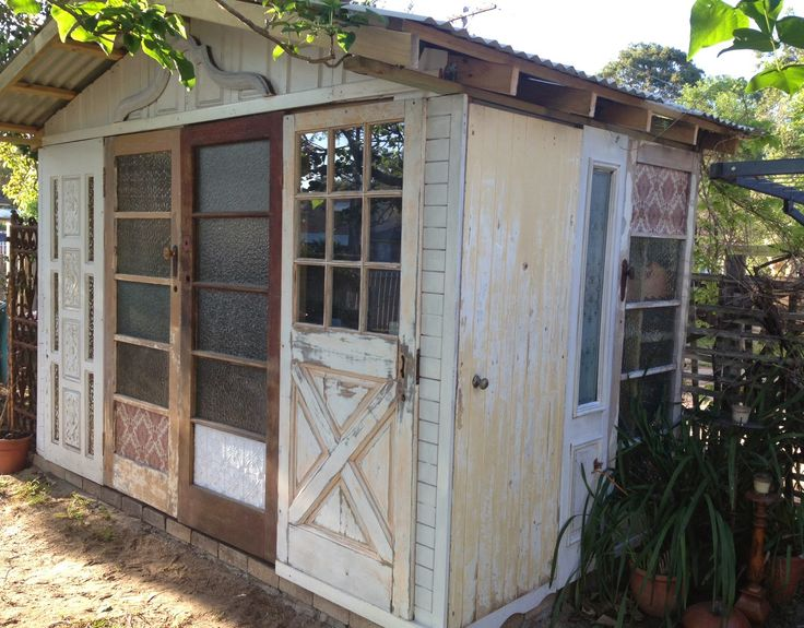recycled door garden shed