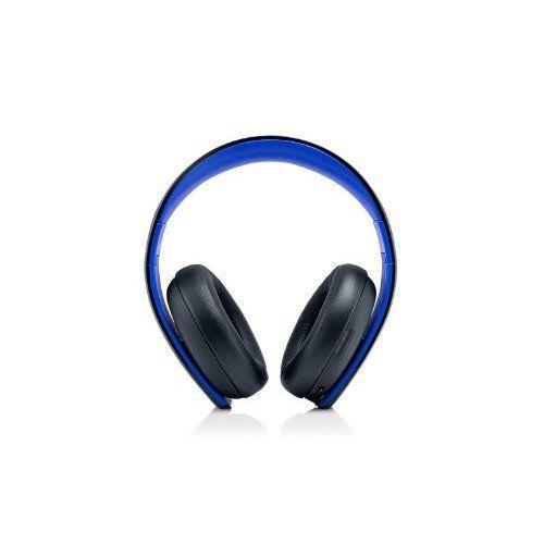 PlayStation Gold Wireless Stereo Headset Jet Black Microphone Mic Blue Black 8E | eBay