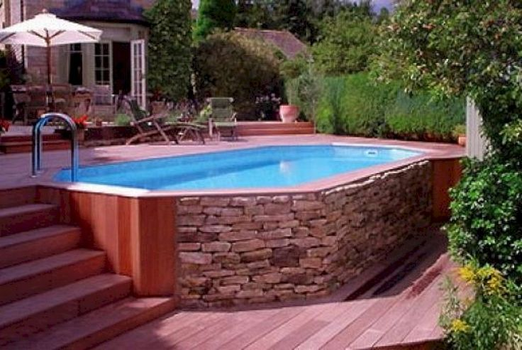 Best 25 best above ground pool ideas on pinterest above for Above ground pool decks photos