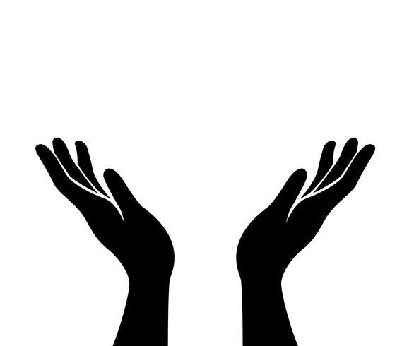 Hands Icon Vector In 2021 Hands Icon Hand Logo Logo Design Inspiration Creative