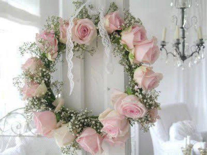 shabby chic roses wreath