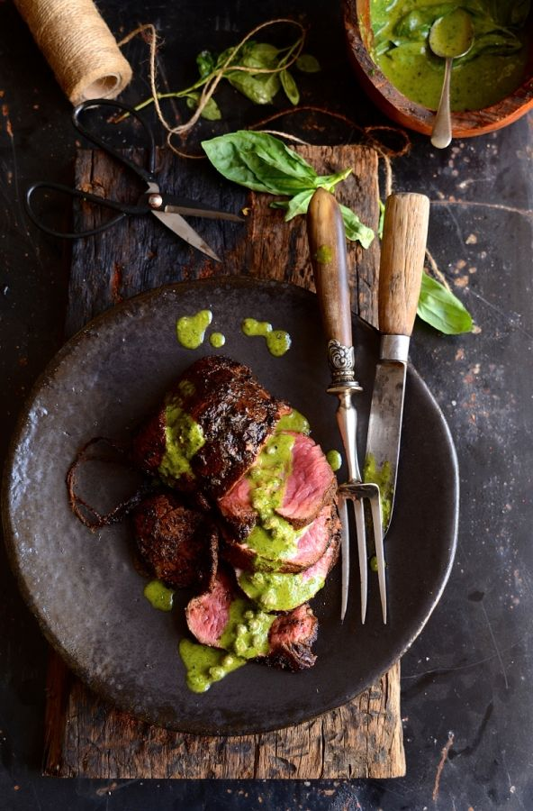 Smoky Joe's beef fillet with salsa verde| Johannesburg food blog | Food Styling |