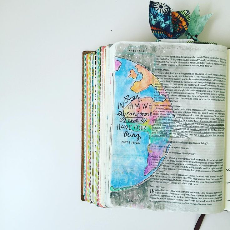 Bible Journaling by @aj_swim                                                                                                                                                                                 More