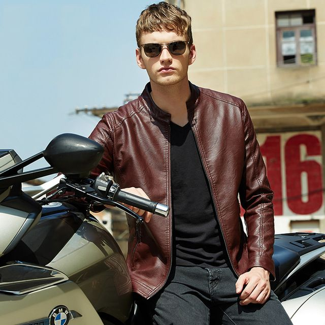 Mens Brand Motorcycle PU Leather Jackets Winter Fur Coat Biker | worth buying on AliExpress