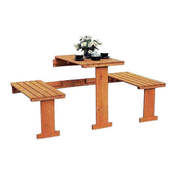 Assortimento per il balcone Dayton (3 pezzi) e pieghevole - In legno di pino