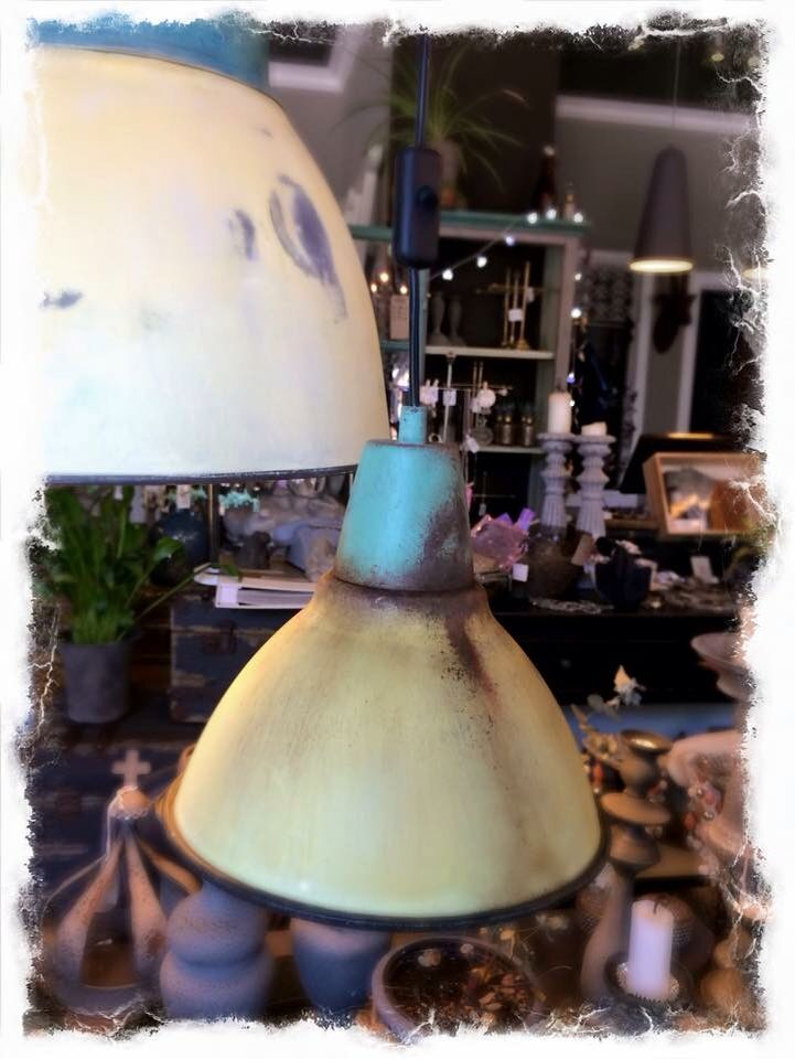 Ikea lamp painted with Nordic Chic chalk and mineral paint