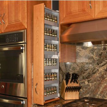 Pulldown Shelves - Offer a New Way to Find Order in the Most Cluttered of Kitchens   KitchenSource.com