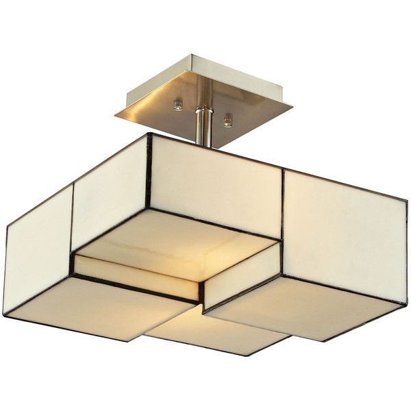 the cubist lighting collection exudes graphic allure in modern interiors a structural expression of dimension the semi flush mount showcases panes of - Semi Flush Mount Lighting