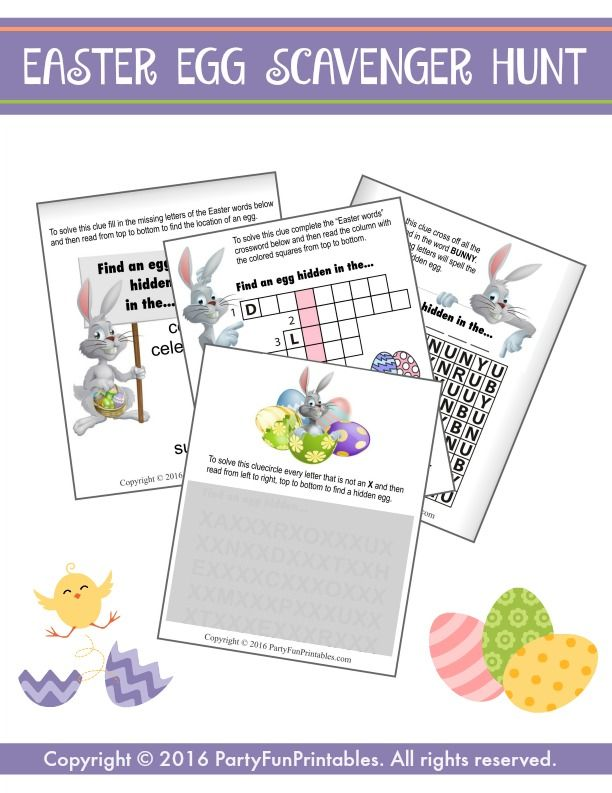 12 fun indoor Easter egg scavenger hunt clues to challenge your kids' solving and sleuthing skills.