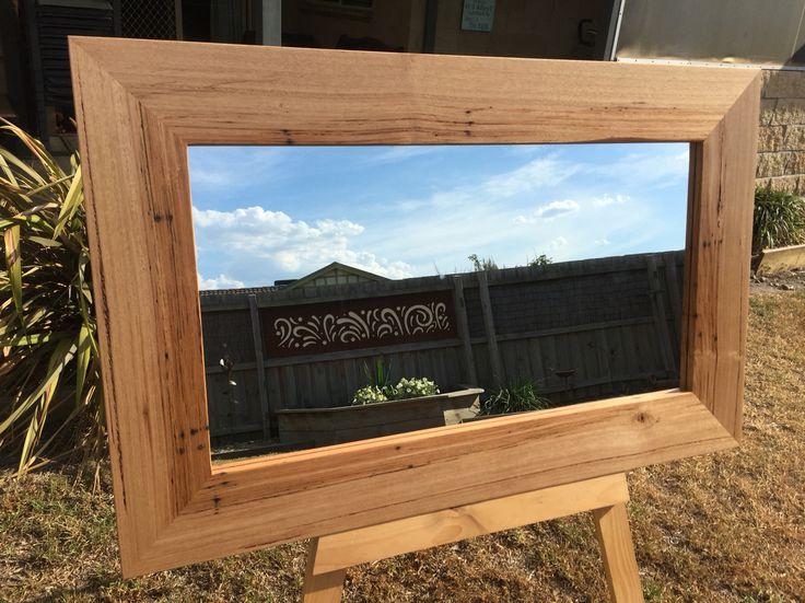 Stringy Bark timber mirror