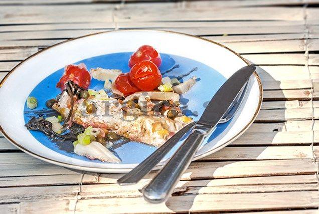 Φιλέτο ψαριού με λαχανικά