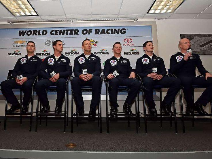 Best of the 2016 Daytona 500:     U.S. Air Force Thunderbird pilots speak during a press:   U.S. Air Force Thunderbird pilots speak during a press conference.