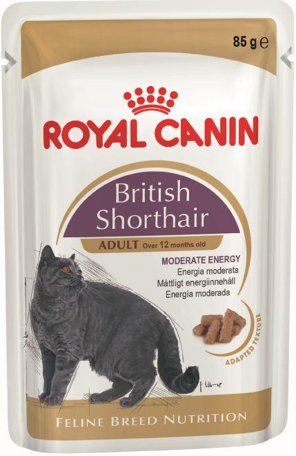Корм для кошек влажный с соусом , 85г Британская короткошерстная