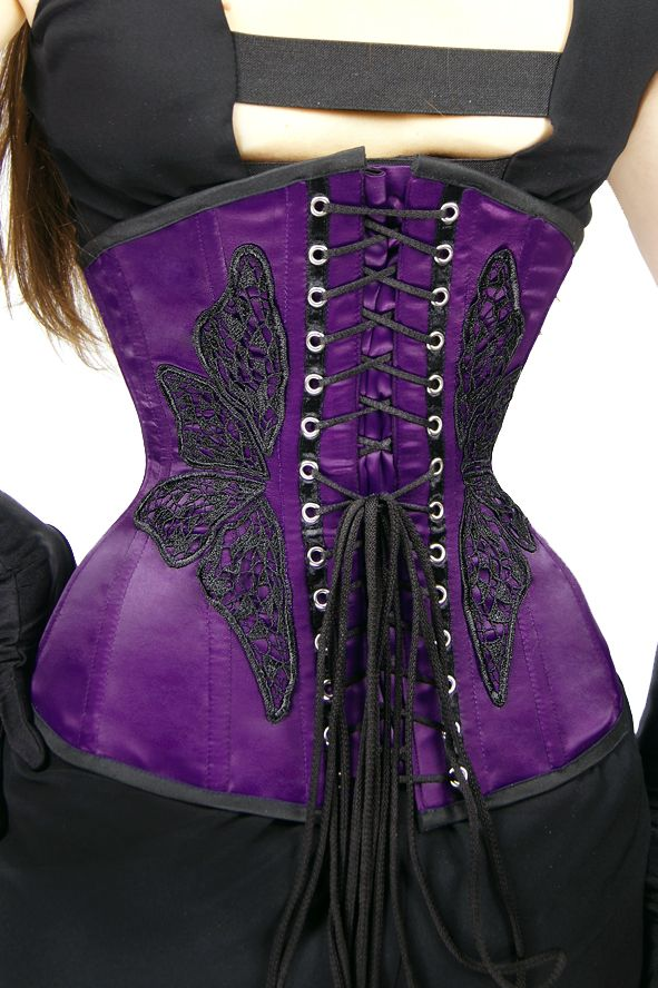 UNDERBUST VIOLET BUTTERFLY PaperCatscorsets.pl
