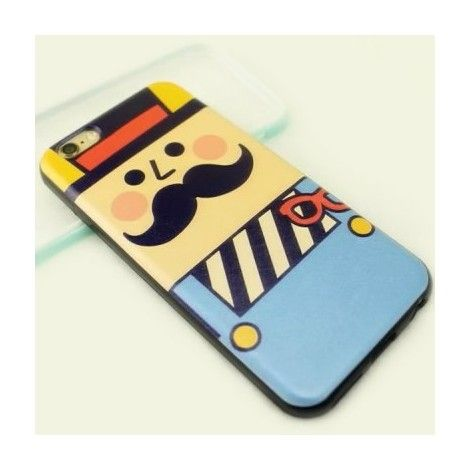 Coques / Protections iPhone 6 Plus - iPhone 6 Plus coque de protection TPU et PU dessin oncle moustache – 5.5 pouces - nemtytab.com