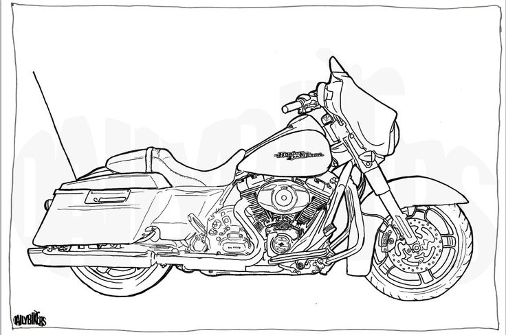 harley davidson symbols coloring pages - photo#34