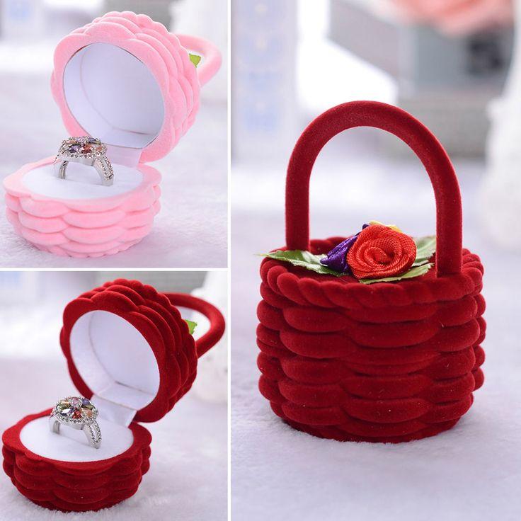 Hot Style Ring/Earring/Necklace Jewelry Box Basket Velvet Gift ...