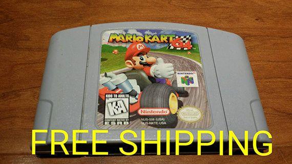 Mario kart 64 Nintendo 64 video game  #retrogaming #mariokart64  Etsy shop https://www.etsy.com/listing/226010669/mario-kart-64-nintendo-64-video-game