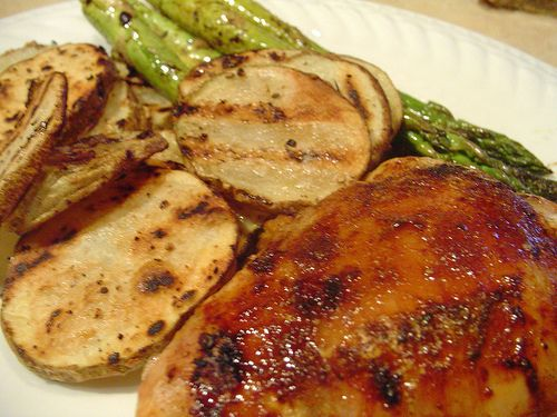 Spicy Honey-Brushed Chicken Thighs | Yummy! | Pinterest