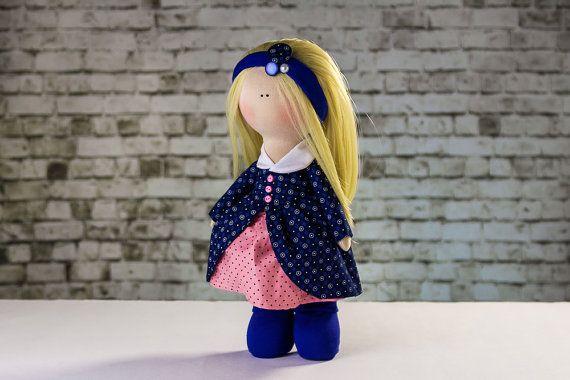 Doll Amanda. Tilda doll. Textile doll. Soft toy. Cute by OwlsUa