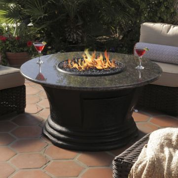 bar height fire pit table set