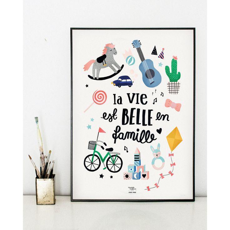 L'affiche La vie est belle en famille - Michelle Carlslund x émoi émoi