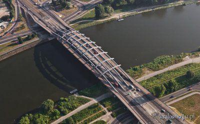 Most Kotlarski nocą, widziany z Bulwaru... - P...f - Wykop.pl