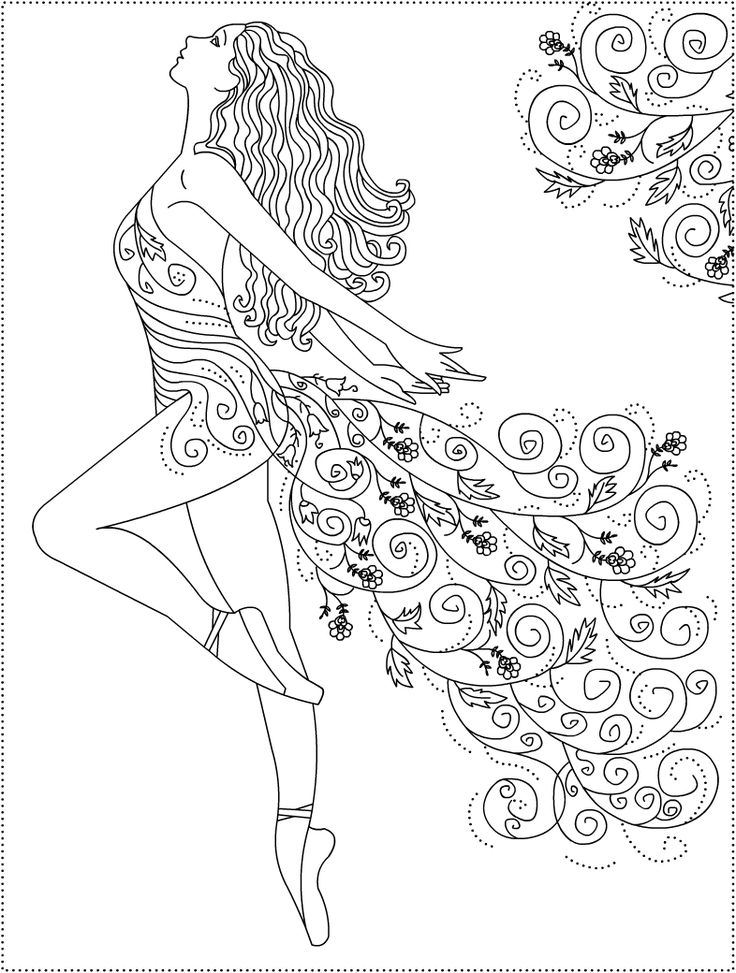 dancing girls coloring pages - photo#37