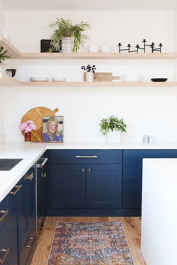 Trends In Kitchen Appliances Little Green Notebook Open Shelving Kitchen Cabinets Modern Kitchen Cabinet Design Navy Kitchen Cabinets