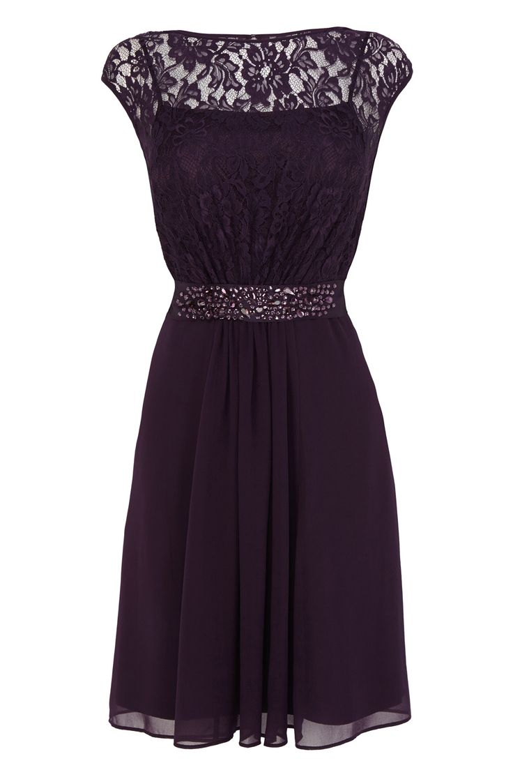 A truly sumptuous short gown perfect for any extra special occasion. The Lori Lee Lace Short Dress features a sheer bodice lined with a soft slip for a feminine allure. The waist is cinched with a lustrous waist tie embellished with faux gems for an opulent aesthetic. The back of the dress features a graceful keyhole detail. This fully lined dress measures 74cm/29 inches in length from underarm to back hem. Height of model shown: 5ft 9inches/175cm. Model wears: UK size 10.