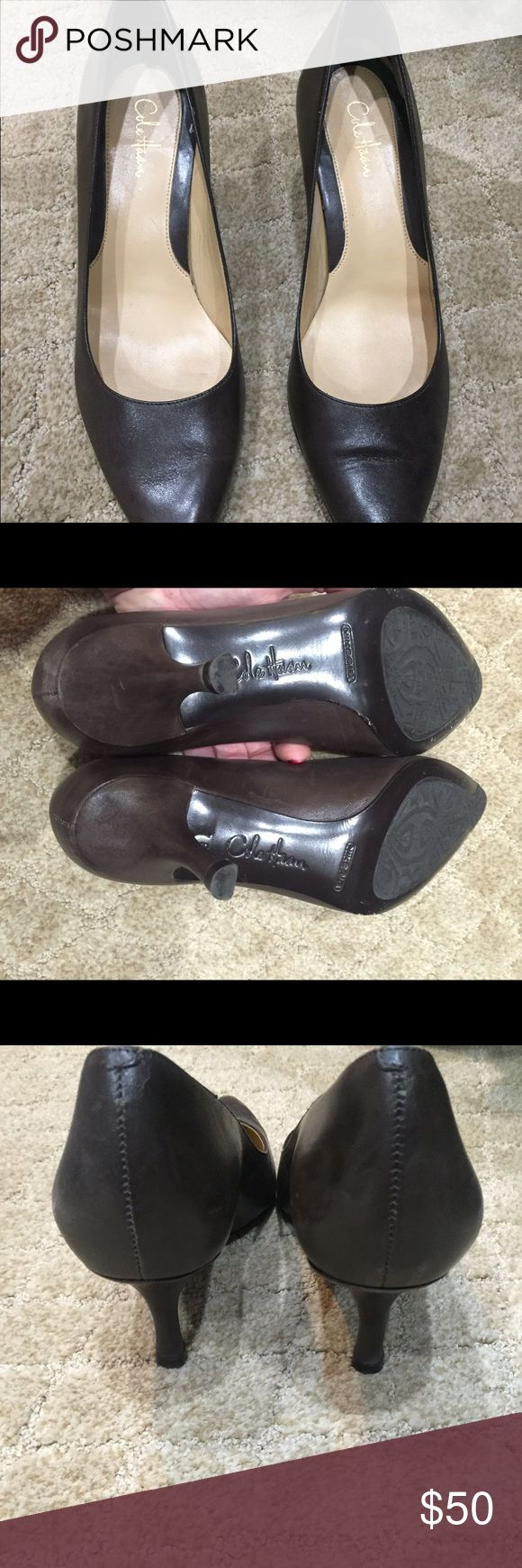 Cole Haan dark brown pumps Very comfortable. Nike technology in sole. Minor scuffs, as shown in picture. Great shoe. Cole Haan Shoes Heels