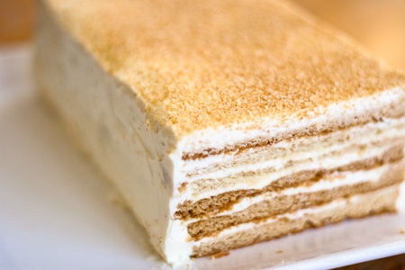 Russian Sour Cream Cake.  I would love to make this but I probably never will. Not enough patience for this.