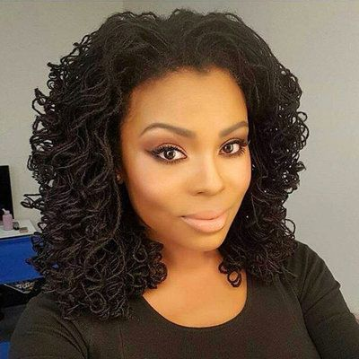 Curly Locs  - 30 Black Women With Seriously Stunning Sisterlocks