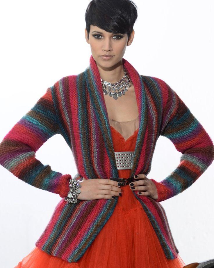 Knitting Fever Patterns : 'alicia jacket pattern knitting fever yarns euro