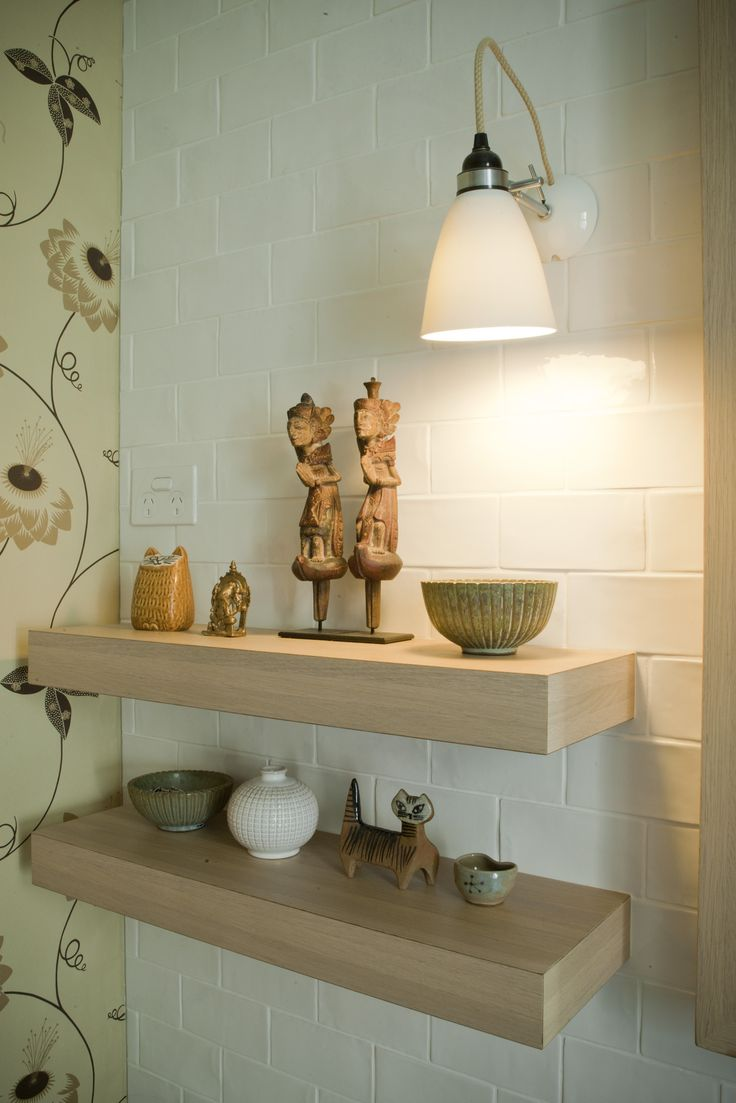 Bathroom 2. Light from Dunlin Home and Neisha Crosland wallpaper. Brooke Aitken Design.