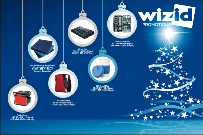Christmas is a great time to reward customers for their loyalty and employees for their hard work. Call Wizid Promotions today on  1300 4 WIZID  to discuss some great Christmas gift ideas for your business.