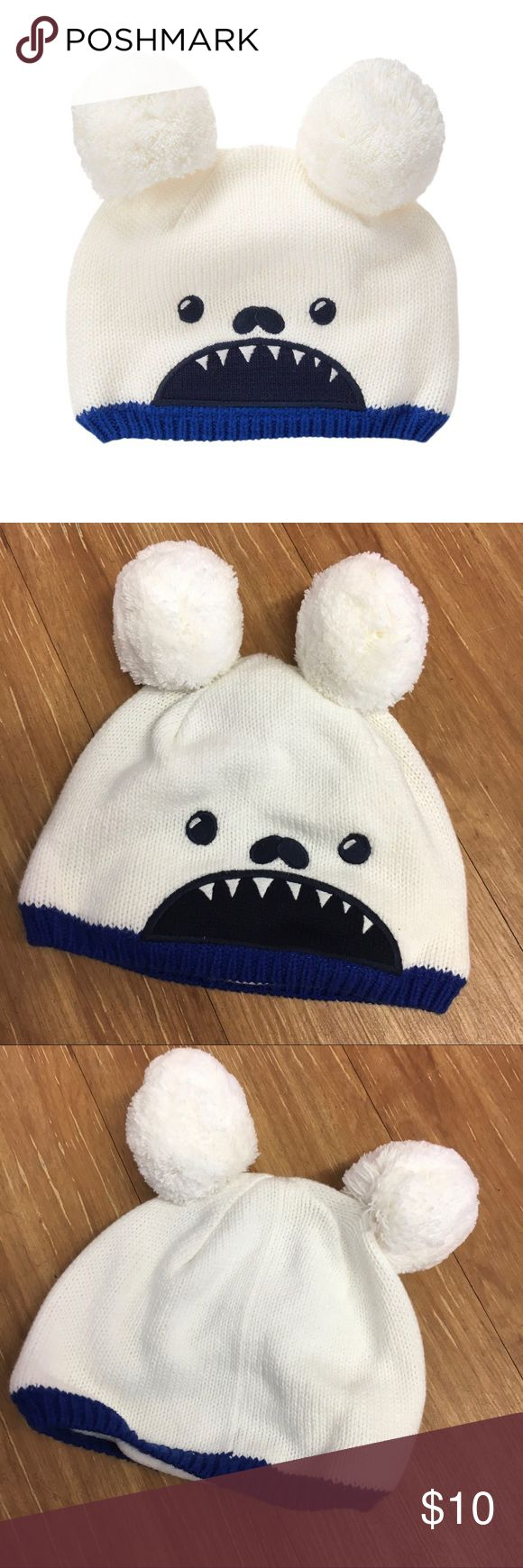 Gymboree Slope Star Yeti Hat 4T 5T White Monster Gymboree Slope Star Yeti Hat 4T 5T White Monster  Super cute hat in great condition.  #beanie #hat #winter #slopestar #yeti #monster #mythical #knit #winteriscoming Gymboree Accessories Hats