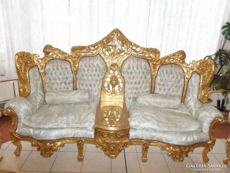 aranyozott barokk stil szalongarnit ra b tor pinterest. Black Bedroom Furniture Sets. Home Design Ideas
