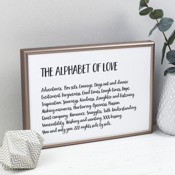The Alphabet of Love Print