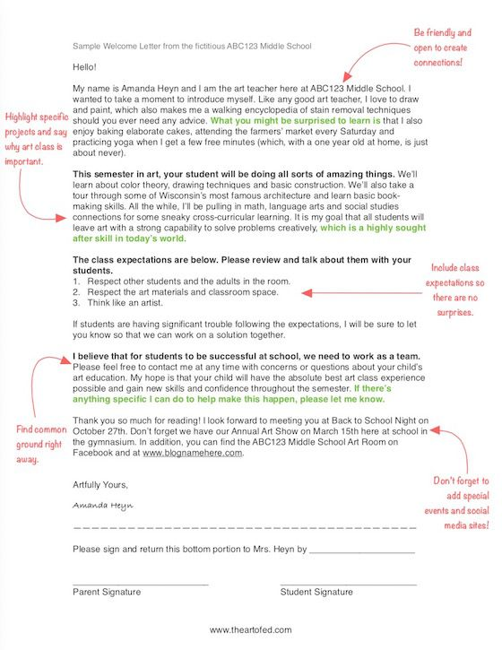 Best 25 parent welcome letters ideas on pinterest preschool how a single sheet of paper can impact your art program stopboris Gallery