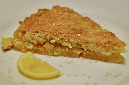 Лимонный пирог с ягодной начинкой