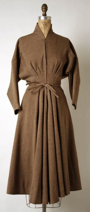 Madame Grès dress ca. 1948 via The Costume Institute of The Metropolitan Museum of Art
